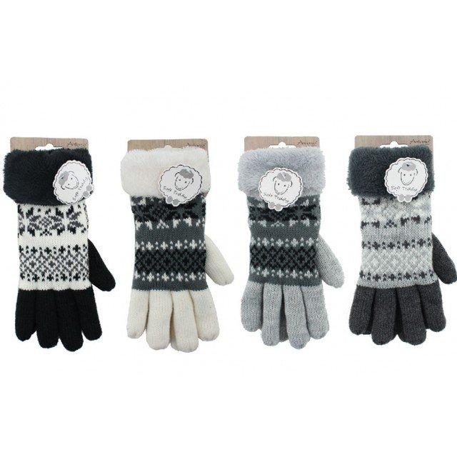 Vinterhandsker til børne, Snekrystal