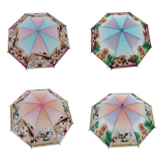 Paraply til børn med dyre print